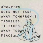 A graphical insight on worrying