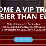Tickmill VIP promotion $50,000 to $30,000 till end Sept 2015
