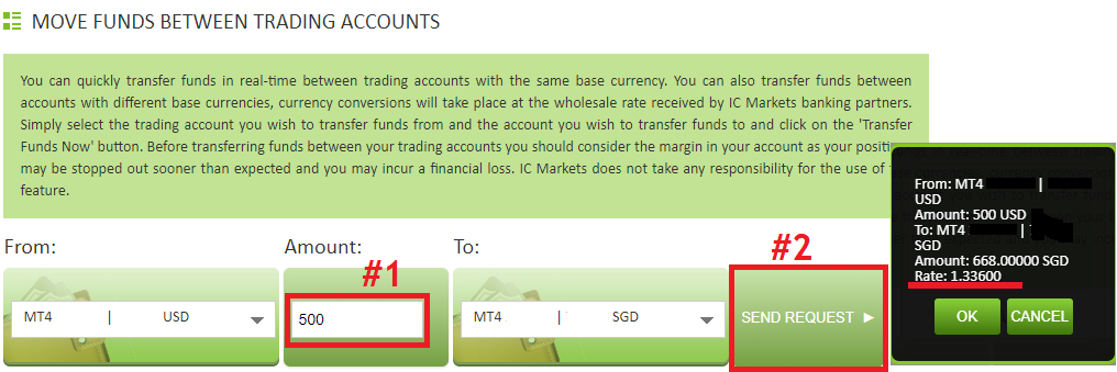 ic markets cheap fx conversion rates for internal transfers